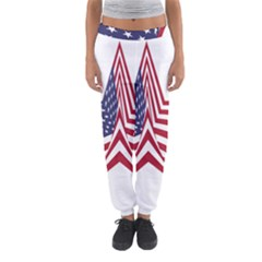 A Star With An American Flag Pattern Women s Jogger Sweatpants