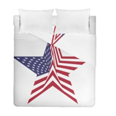 A Star With An American Flag Pattern Duvet Cover Double Side (full/ Double Size)