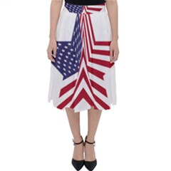A Star With An American Flag Pattern Folding Skater Skirt