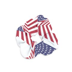 A Star With An American Flag Pattern Velvet Scrunchie