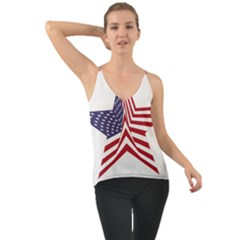 A Star With An American Flag Pattern Cami
