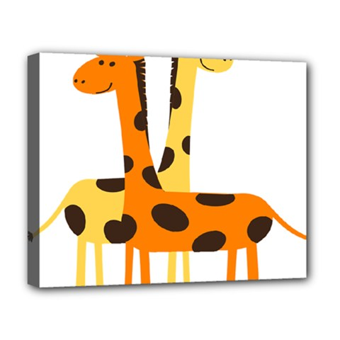 Giraffe Africa Safari Wildlife Deluxe Canvas 20  X 16