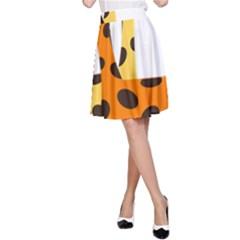 Giraffe Africa Safari Wildlife A Line Skirt