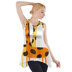 Giraffe Africa Safari Wildlife Side Drop Tank Tunic