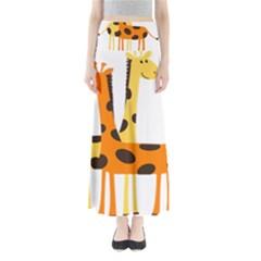 Giraffe Africa Safari Wildlife Full Length Maxi Skirt