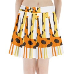 Giraffe Africa Safari Wildlife Pleated Mini Skirt