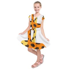 Giraffe Africa Safari Wildlife Kids  Short Sleeve Dress