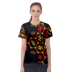 Algorithmic Drawings Women s Sport Mesh Tee