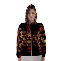 Algorithmic Drawings Hooded Wind Breaker (women)