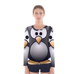Penguin Birds Aquatic Flightless Women s Long Sleeve Tee