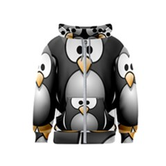 Penguin Birds Aquatic Flightless Kids  Zipper Hoodie