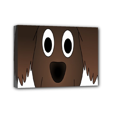 Dog Pup Animal Canine Brown Pet Mini Canvas 7  X 5