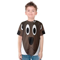 Dog Pup Animal Canine Brown Pet Kids  Cotton Tee