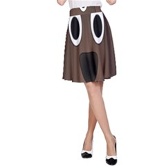 Dog Pup Animal Canine Brown Pet A Line Skirt