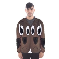 Dog Pup Animal Canine Brown Pet Hooded Wind Breaker (men)