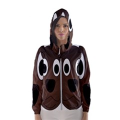 Dog Pup Animal Canine Brown Pet Hooded Wind Breaker (women)
