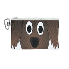 Dog Pup Animal Canine Brown Pet Canvas Cosmetic Bag (medium) by Nexatart