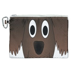 Dog Pup Animal Canine Brown Pet Canvas Cosmetic Bag (xl) by Nexatart