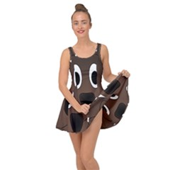 Dog Pup Animal Canine Brown Pet Inside Out Dress
