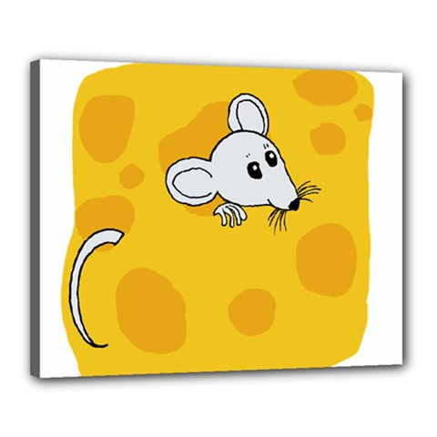 Rat Mouse Cheese Animal Mammal Canvas 20  X 16