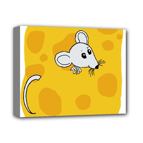 Rat Mouse Cheese Animal Mammal Deluxe Canvas 14  X 11