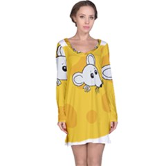 Rat Mouse Cheese Animal Mammal Long Sleeve Nightdress