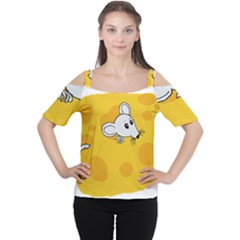 Rat Mouse Cheese Animal Mammal Cutout Shoulder Tee