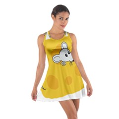 Rat Mouse Cheese Animal Mammal Cotton Racerback Dress