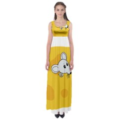 Rat Mouse Cheese Animal Mammal Empire Waist Maxi Dress