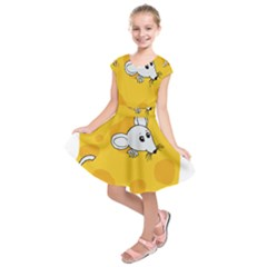 Rat Mouse Cheese Animal Mammal Kids  Short Sleeve Dress