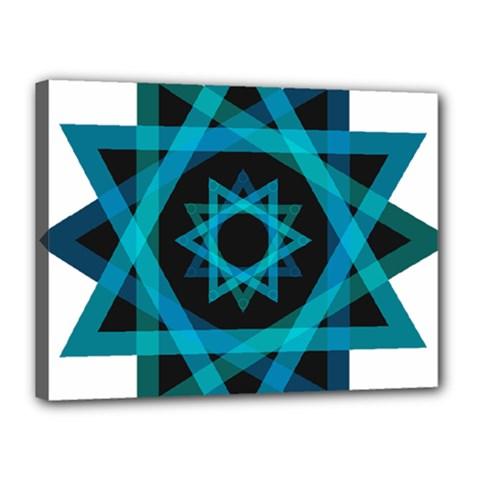 Transparent Triangles Canvas 16  X 12