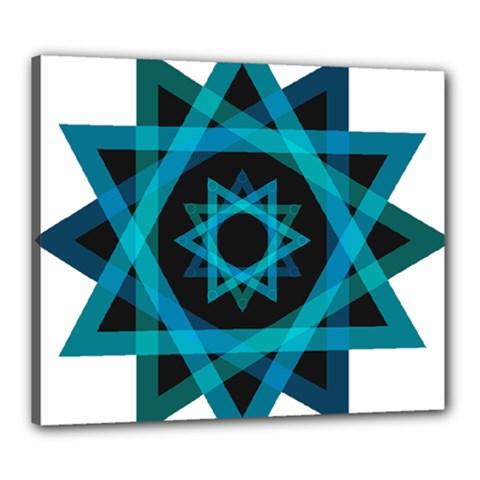 Transparent Triangles Canvas 24  X 20