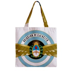 Argentine Army Aviation Badge Zipper Grocery Tote Bag by abbeyz71