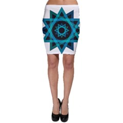 Transparent Triangles Bodycon Skirt