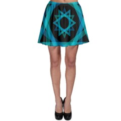 Transparent Triangles Skater Skirt