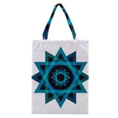 Transparent Triangles Classic Tote Bag