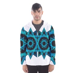 Transparent Triangles Hooded Wind Breaker (men)