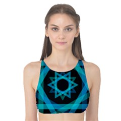 Transparent Triangles Tank Bikini Top