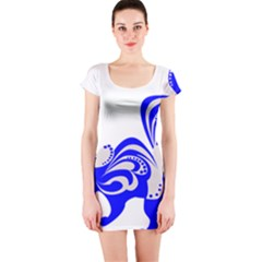 Skunk Animal Still From Short Sleeve Bodycon Dress