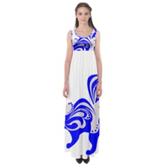 Skunk Animal Still From Empire Waist Maxi Dress