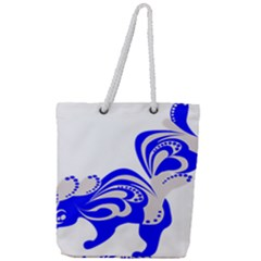 Skunk Animal Still From Full Print Rope Handle Tote (large) by Nexatart