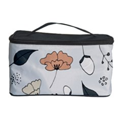 Grey Toned Pattern Cosmetic Storage Case