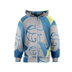 Ram Zodiac Sign Zodiac Moon Star Kids  Zipper Hoodie
