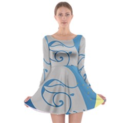 Ram Zodiac Sign Zodiac Moon Star Long Sleeve Skater Dress