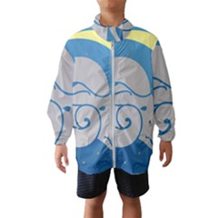 Ram Zodiac Sign Zodiac Moon Star Wind Breaker (kids)