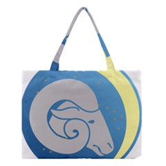 Ram Zodiac Sign Zodiac Moon Star Medium Tote Bag by Nexatart