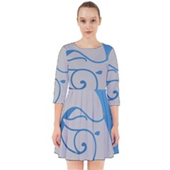 Ram Zodiac Sign Zodiac Moon Star Smock Dress