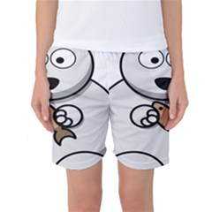 Bear Polar Bear Arctic Fish Mammal Women s Basketball Shorts