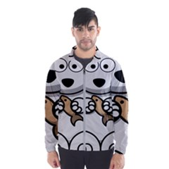 Bear Polar Bear Arctic Fish Mammal Wind Breaker (men)