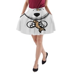 Bear Polar Bear Arctic Fish Mammal A Line Pocket Skirt